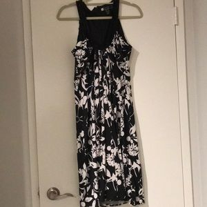 Black and white dress worn once-like new